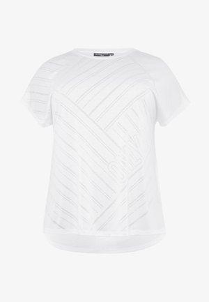 ONPJONI LOOSE BURNOUT TEE  - Print T-shirt - white