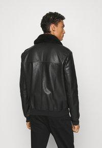 HUGO - LYAN - Leather jacket - black - 2