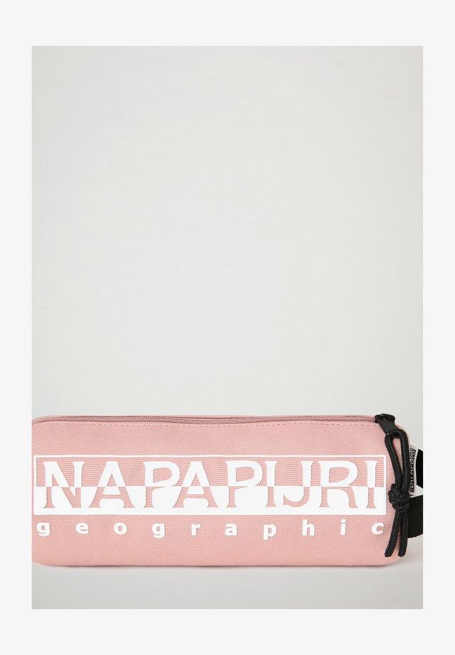HAPPY PENCIL CASE - Pencil case - pink woodrose