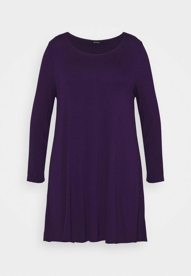 LONG SLEEVE TUNIC - Langærmede T-shirts - purple
