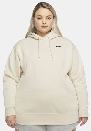 GRANDE TAILLE - Fleece jumper - oatmeal/black