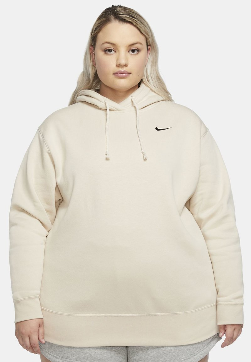 Nike Sportswear - GRANDE TAILLE - Sweat polaire - oatmeal/black
