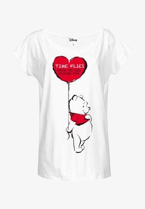 LOOSE - Print T-shirt - weiss
