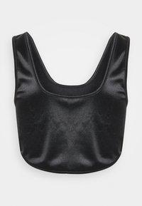 Topshop Petite - DISCO CORSET - Blusa - black - 1