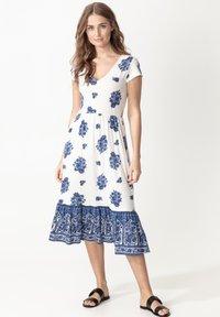 Indiska - RUNITA - Jersey dress - blue - 0