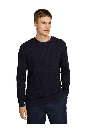 Jumper - knitted navy melange