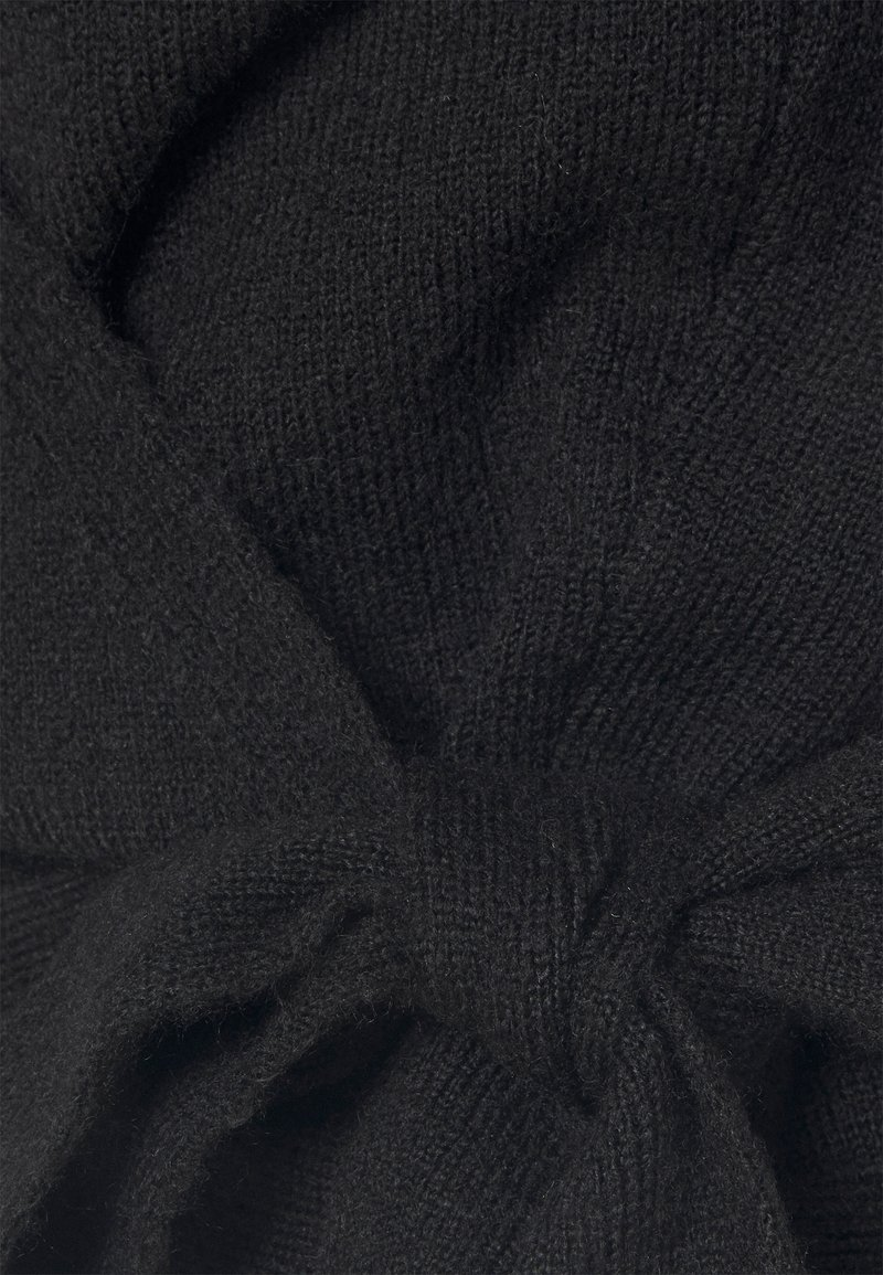 Even&Odd WRAP CARDIGAN - Strickjacke - black/schwarz CBstPG
