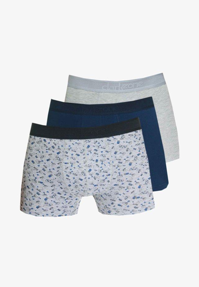 3PACK  - Pants - navy/grau