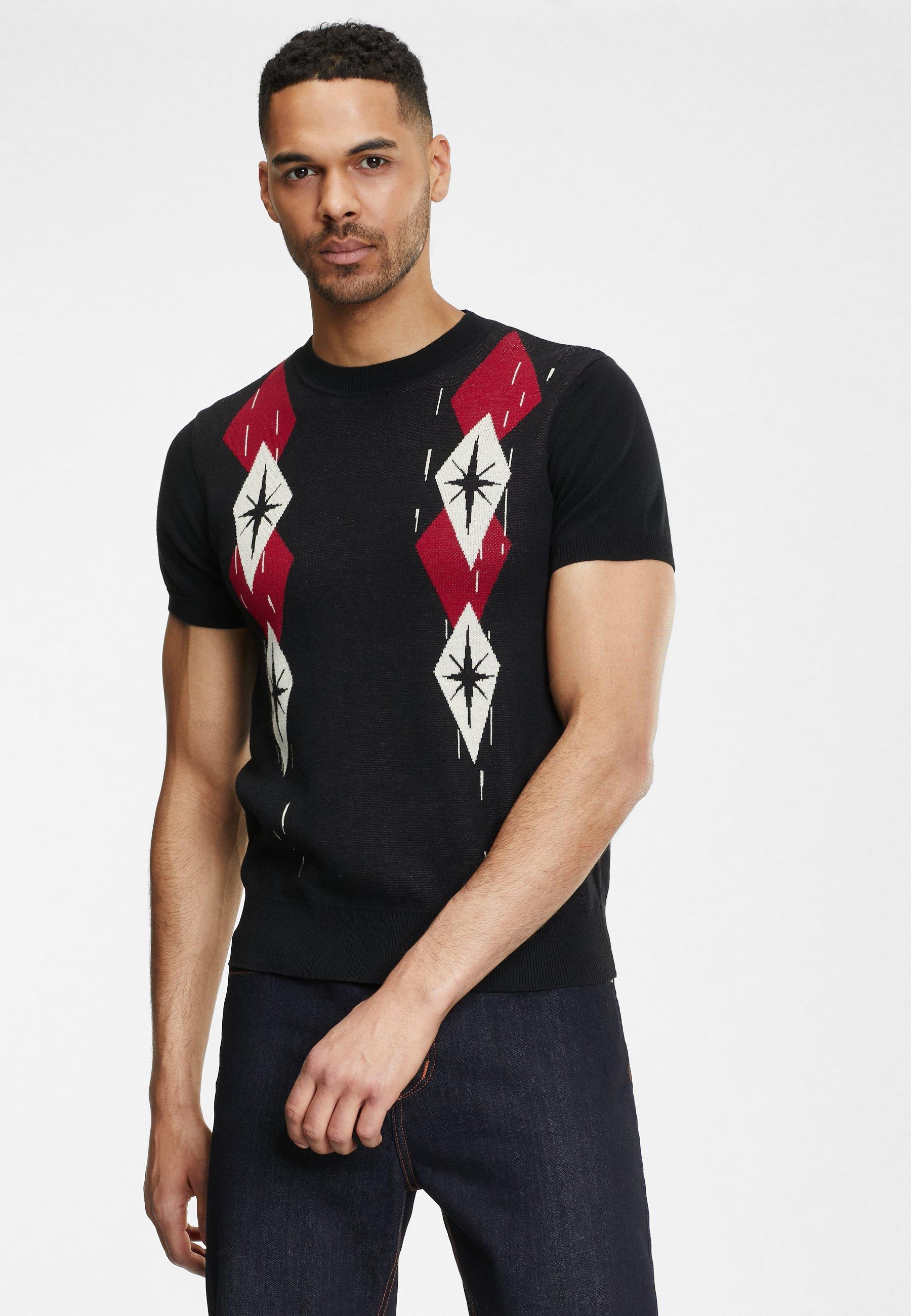 Uomo SCOTT BLACK WALL - T-shirt con stampa