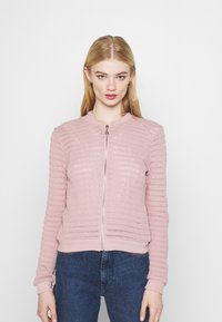 ONLY - ONLASTER BOMBER JACKET - Cardigan - adobe rose - 0
