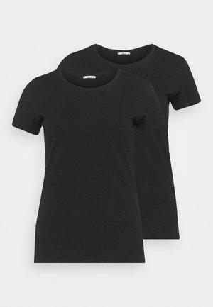 BATIDA 2 PACK - Basic T-shirt - black