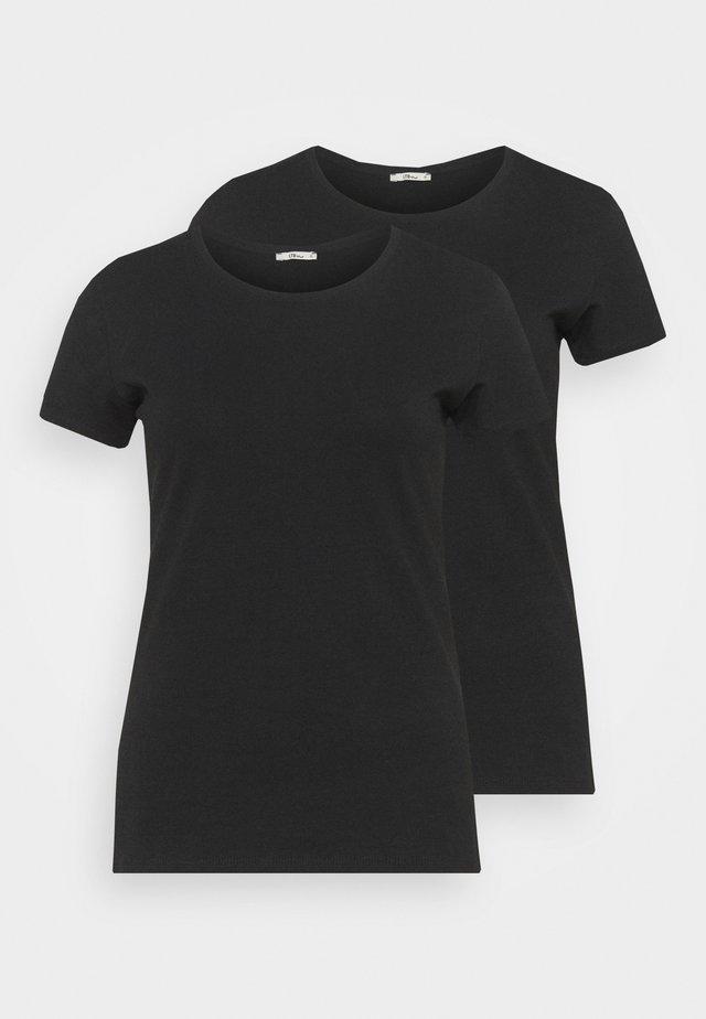 BATIDA 2 PACK - Jednoduché triko - black