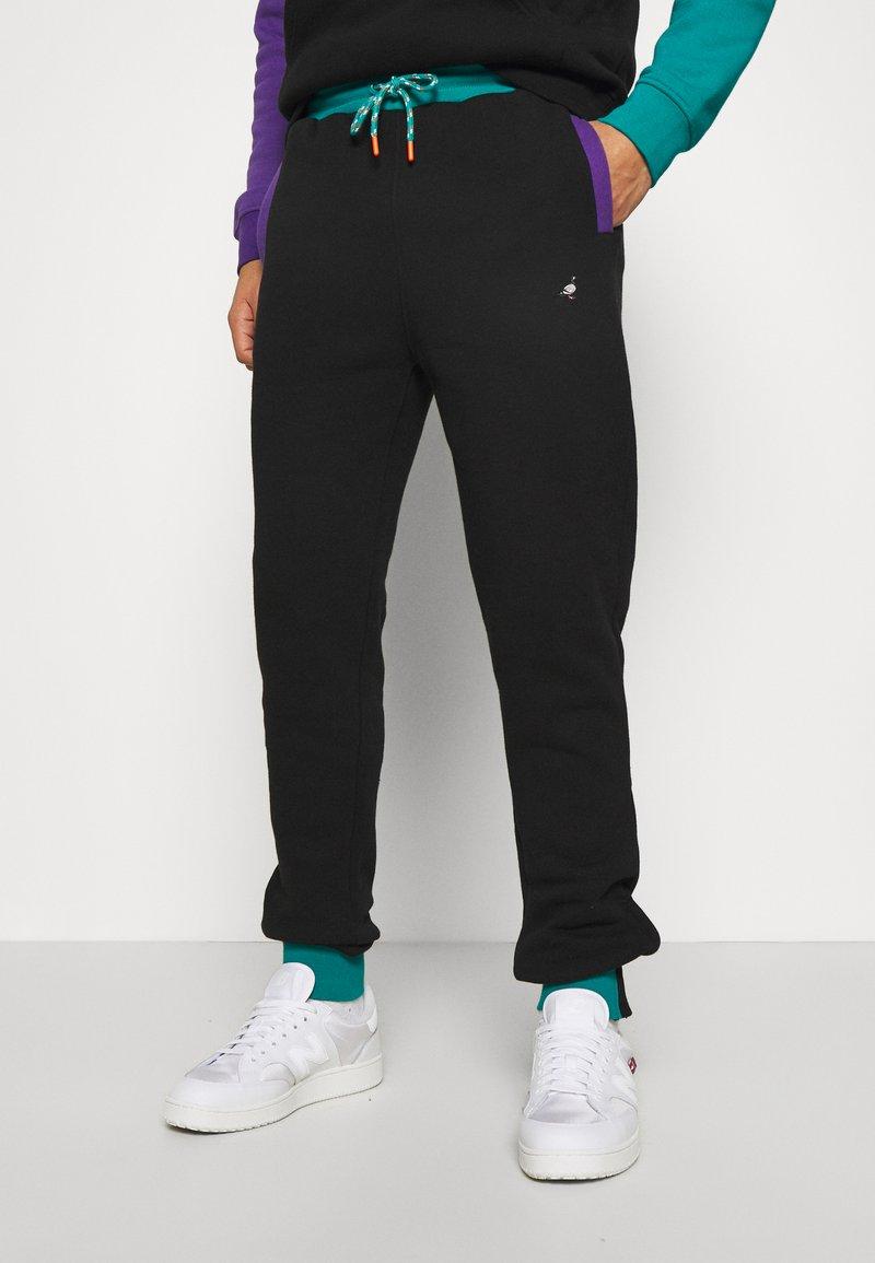 STAPLE PIGEON - TRICOLOR PANT UNISEX  - Pantaloni sportivi - black
