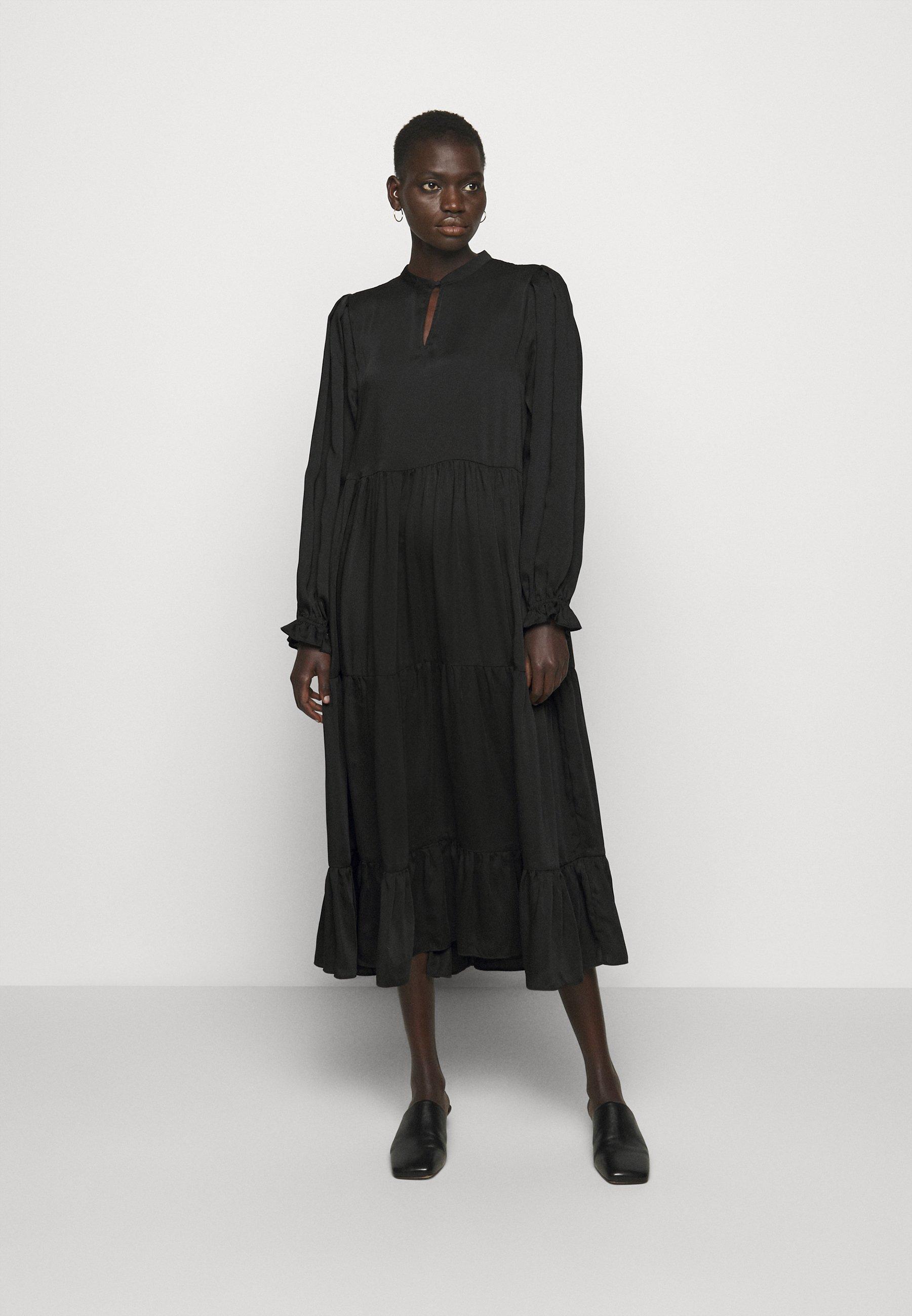 Women EMILLEH RAVEN DRESS - Maxi dress