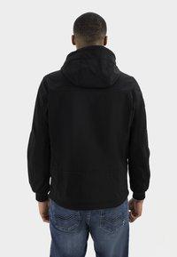 camel active - MIT STEHKRAGEN UND KAPUZE - Summer jacket - black - 2