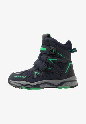 LOMMY SYMPATEX - Winter boots - navy/green