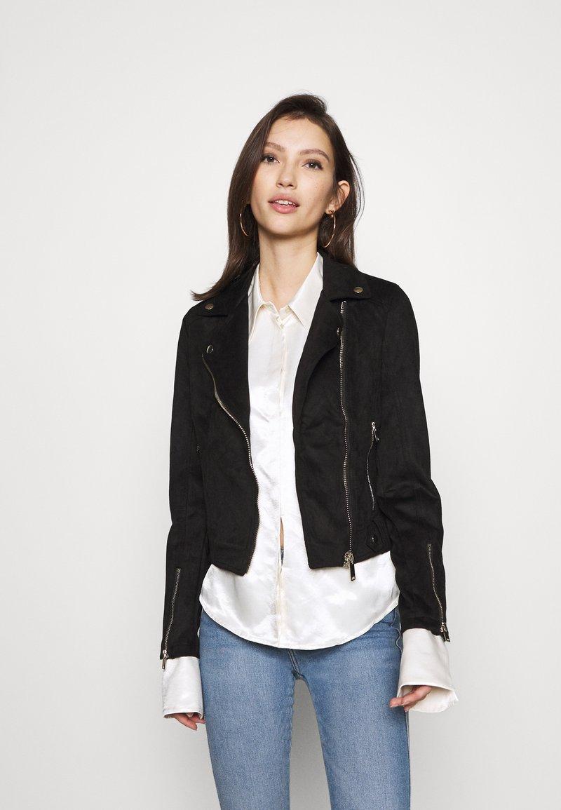 Miss Selfridge - BIKER - Summer jacket - black