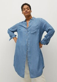 Violeta by Mango - STRIPES - Button-down blouse - mittelblau - 0