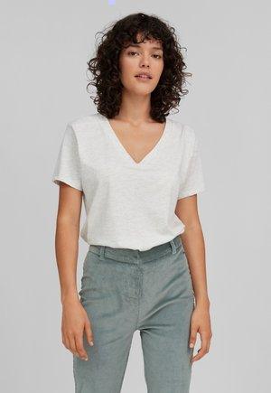 T-shirt basique - white melee