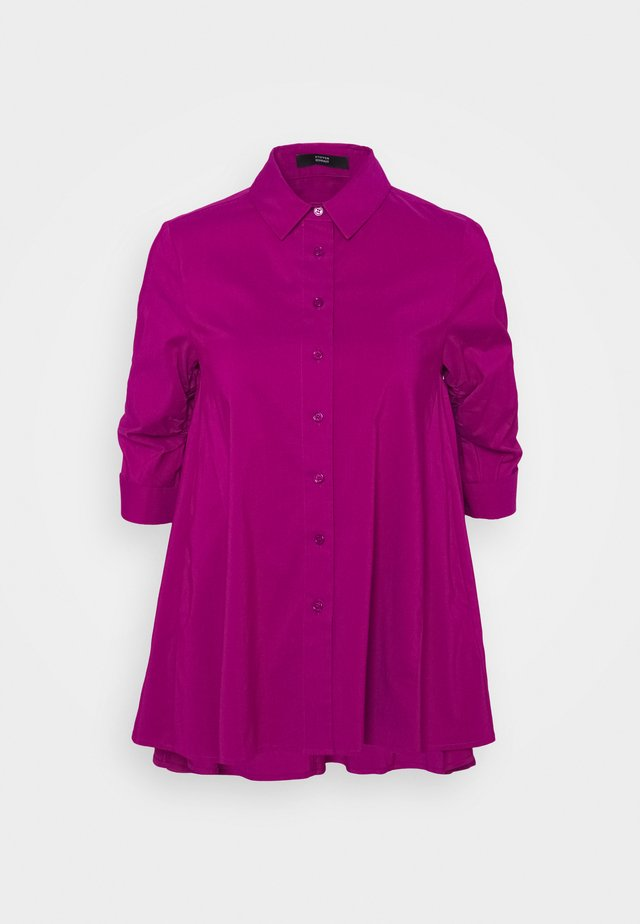 BENITA FASHIONABLE BLOUSE - Button-down blouse - funky purple