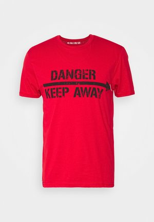 CRASH CREW - Print T-shirt - speed red