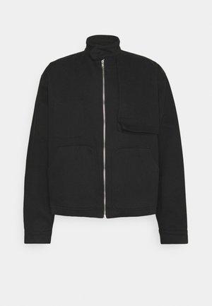 OVERSIZE ZIP JACKET - Summer jacket - black