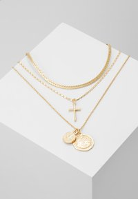 Topshop - FRCOIN CROSS  - Necklace - gold-coloured - 0