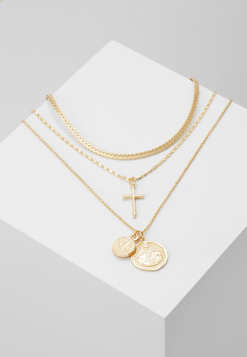 Topshop - FRCOIN CROSS  - Necklace - gold-coloured