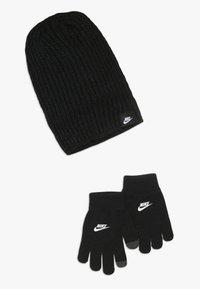 Nike Sportswear - FUTURA BRUSHED BEANIE SET - Mütze - black - 0