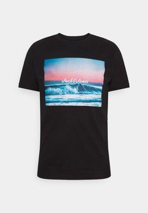 JJSUMMER TEE CREW NECK - T-shirt print - black