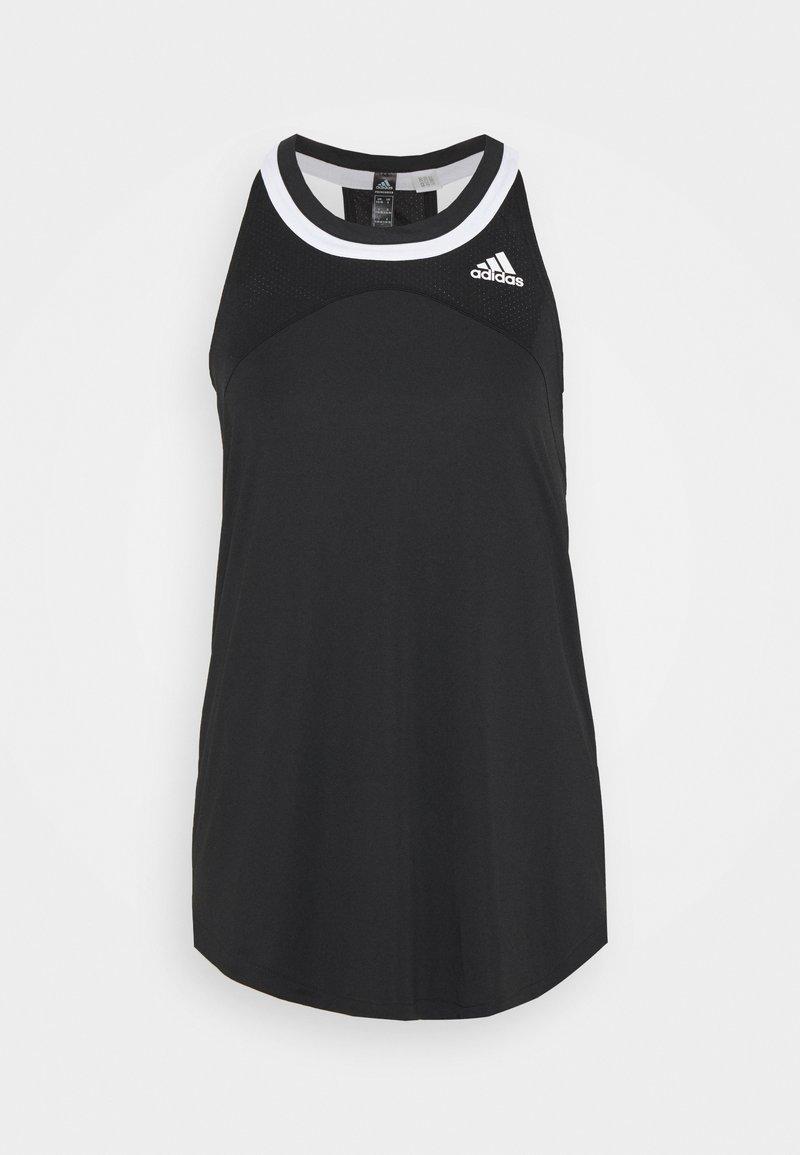adidas Performance - CLUB TANK - Treningsskjorter - black/white