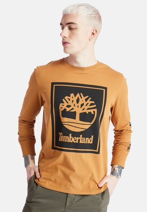LS STACK LOGO TEE - Long sleeved top - wheat boot/black
