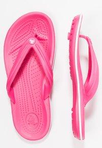 Crocs - CROCBAND FLIP - Tøfler - paradise pink/white - 3