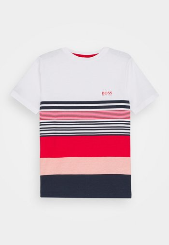 SHORT SLEEVES - Print T-shirt - white/red