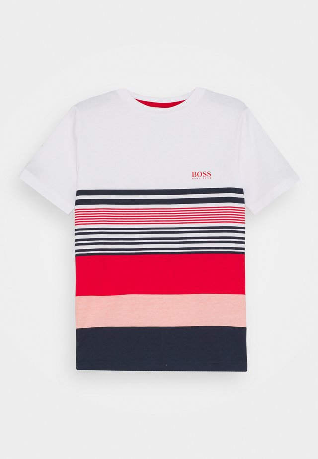SHORT SLEEVES - T-shirt imprimé - white/red