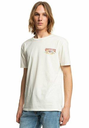 Print T-shirt - antique white