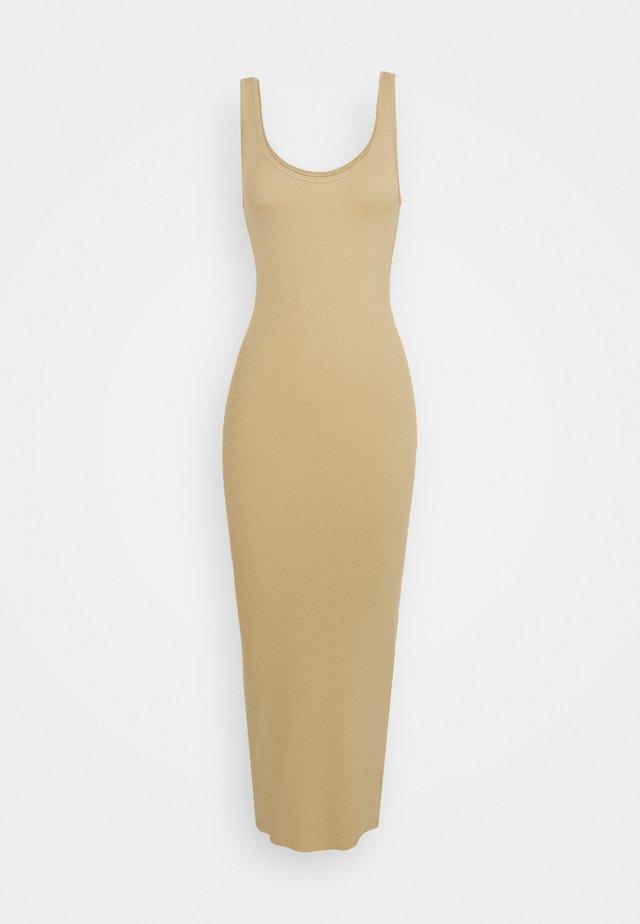 ENALLY DRESS - Vestito lungo - travertine