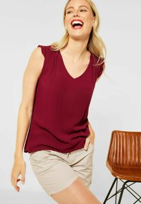 Street One - IN UNIFARBE - Blouse - rot - 1