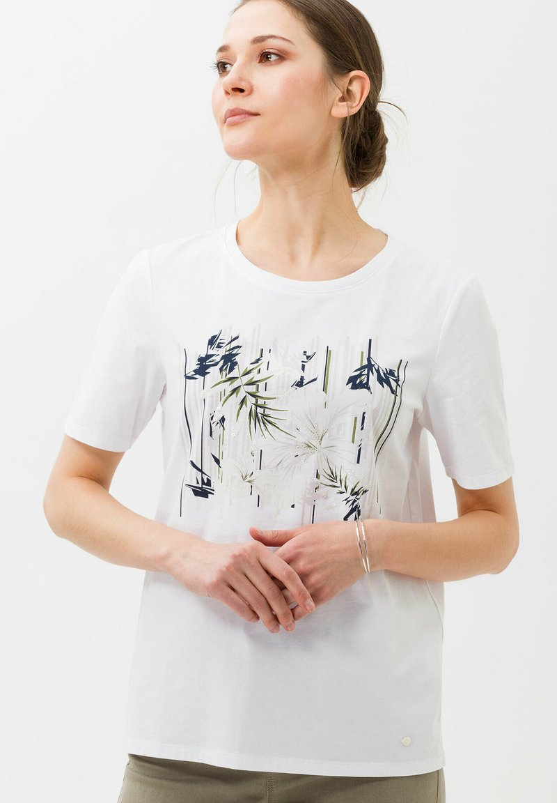 BRAX - CIRA - Print T-shirt - white