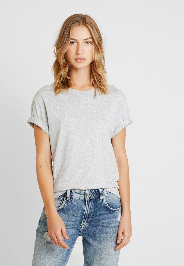 Pier One T-shirt basic - light grey melange/jasnoszary melanż Odzież Męska SVDW