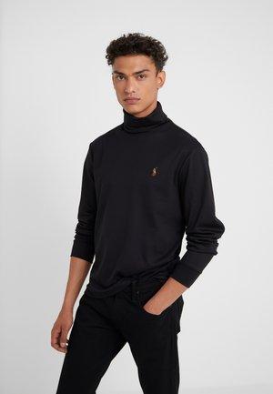 LONG SLEEVE - Long sleeved top - polo black
