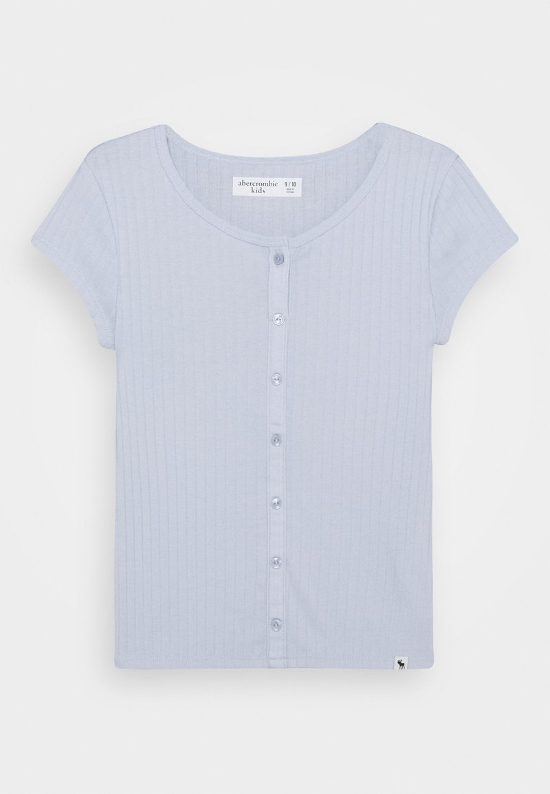 Abercrombie & Fitch - BUTTON TRHU - T-shirt basic - blue