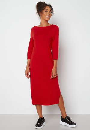 PRISCILLA  - Jersey dress - red