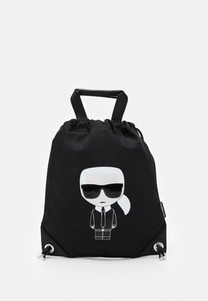 IKONIK FLAT BACKPACK - Rygsække - black