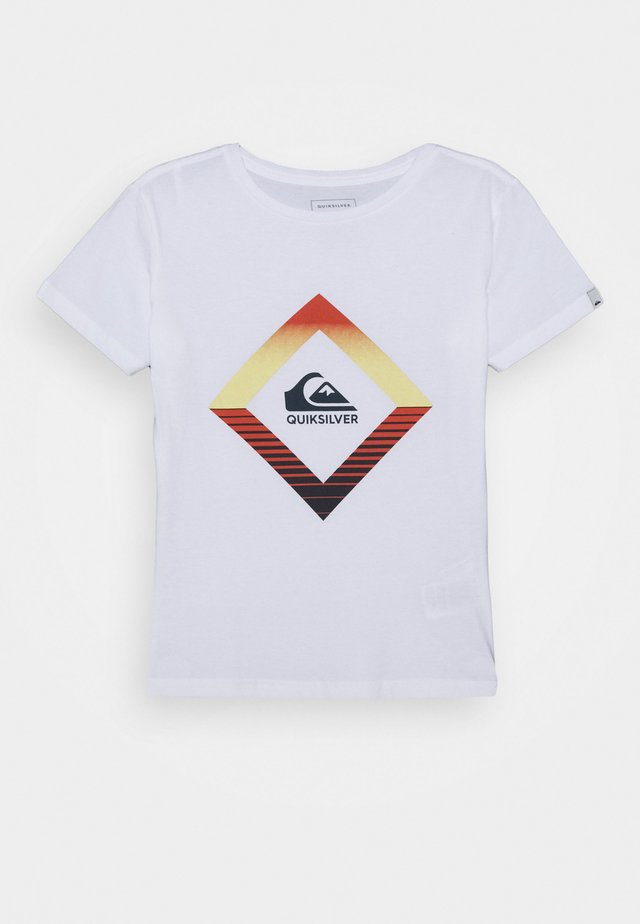 SCREEN TEE - Printtipaita - white
