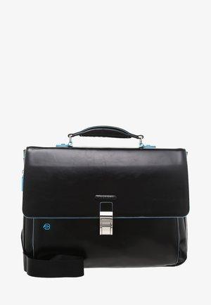 BRIEFCASE WITH FLAP - Laptop bag - black