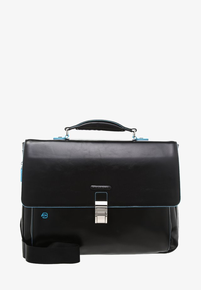 BRIEFCASE WITH FLAP - Laptoptas - black