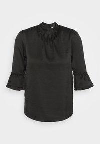 Miss Selfridge - HIGH NECK 3/4 SLEEVE BLOUSE - Langarmshirt - black - 5
