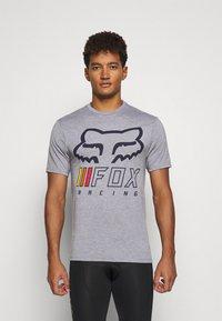 Fox Racing - OVERHAUL TECH TEE - Print T-shirt - grey - 0