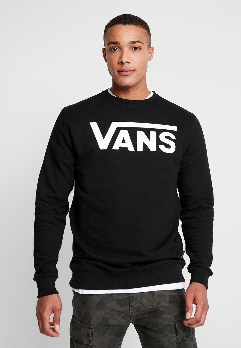 Vans - CLASSIC CREW - Sweatshirt - black/white